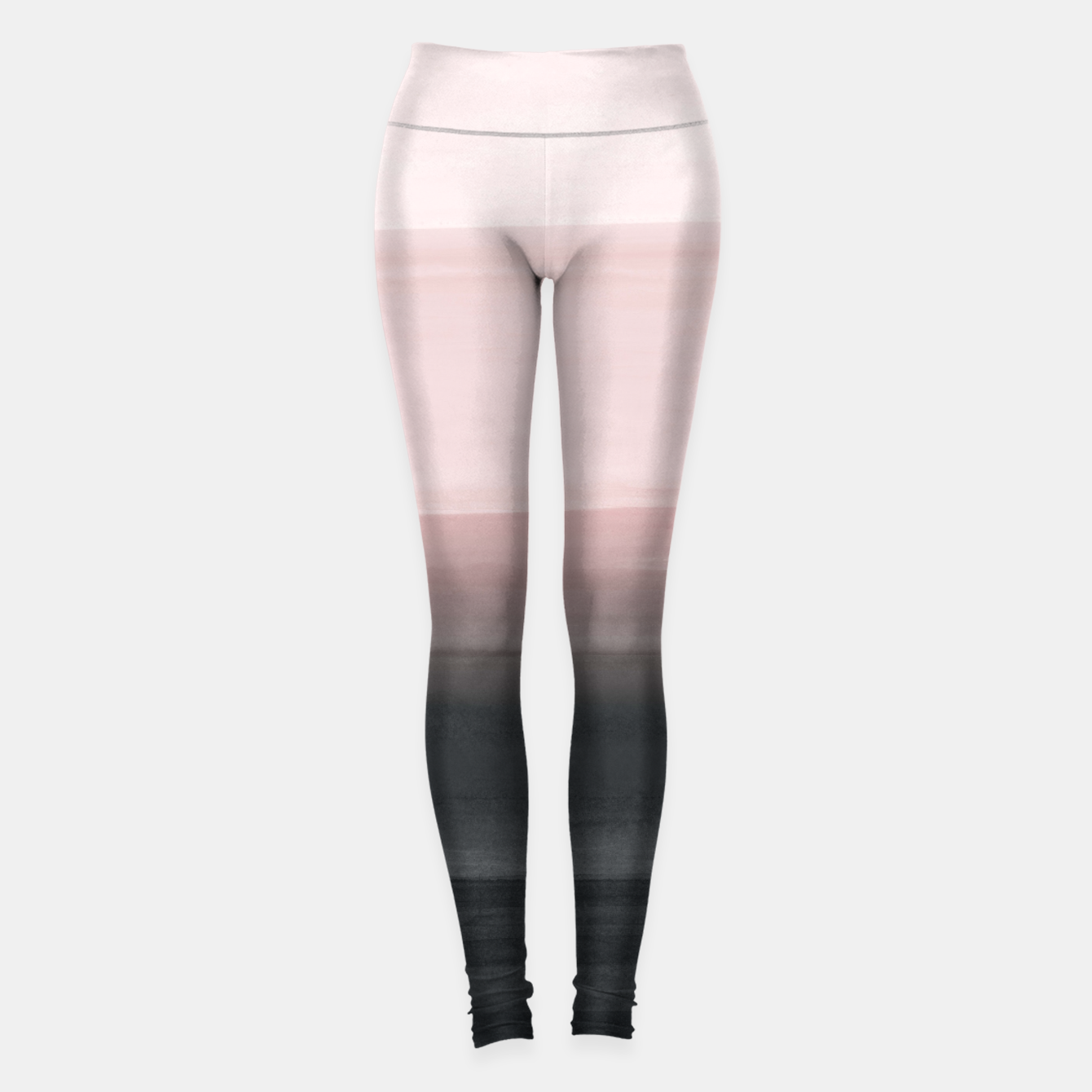 Zdjęcie Touching Blush Black Watercolor Abstract #1 #painting #decor #art  Leggings - Live Heroes