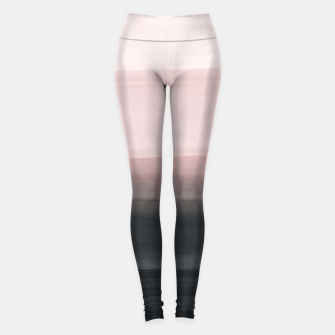 Thumbnail image of Touching Blush Black Watercolor Abstract #1 #painting #decor #art  Leggings, Live Heroes