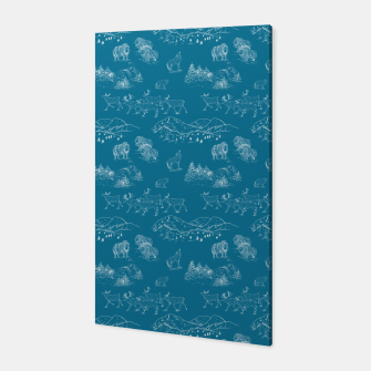 Thumbnail image of Arctic Wildlife Pattern (Blue and White) Canvas, Live Heroes