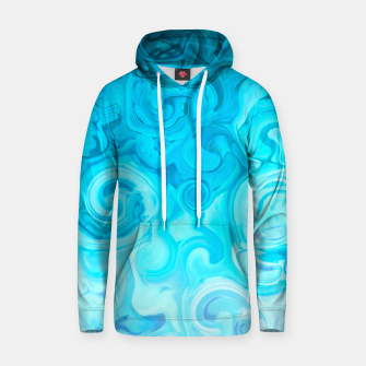Thumbnail image of turquoise blue white whirls abstract pattern Hoodie, Live Heroes