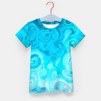 Thumbnail image of turquoise blue white whirls abstract pattern Kid's t-shirt, Live Heroes