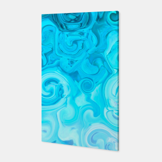 Thumbnail image of turquoise blue white whirls abstract pattern Canvas, Live Heroes