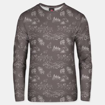 Thumbnail image of Arctic Wildlife Pattern (Taupe and White) Unisex sweater, Live Heroes
