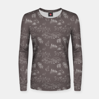 Thumbnail image of Arctic Wildlife Pattern (Taupe and White) Women sweater, Live Heroes