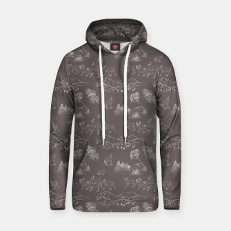 Thumbnail image of Arctic Wildlife Pattern (Taupe and White) Hoodie, Live Heroes