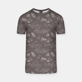Thumbnail image of Arctic Wildlife Pattern (Taupe and White) T-shirt, Live Heroes