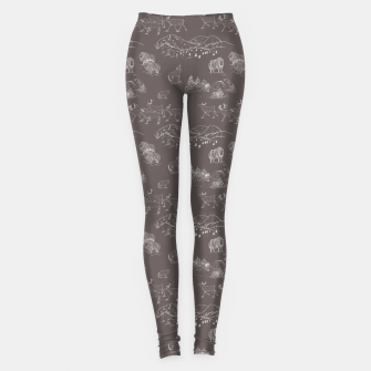 Thumbnail image of Arctic Wildlife Pattern (Taupe and White) Leggings, Live Heroes
