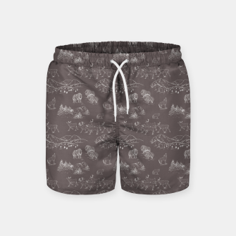 Thumbnail image of Arctic Wildlife Pattern (Taupe and White) Swim Shorts, Live Heroes
