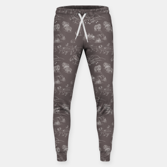 Thumbnail image of Arctic Wildlife Pattern (Taupe and White) Sweatpants, Live Heroes