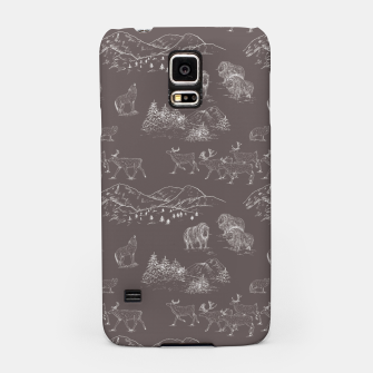 Thumbnail image of Arctic Wildlife Pattern (Taupe and White) Samsung Case, Live Heroes