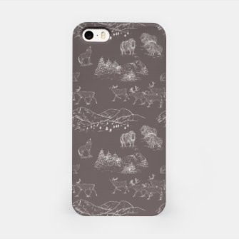 Thumbnail image of Arctic Wildlife Pattern (Taupe and White) iPhone Case, Live Heroes