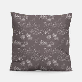 Thumbnail image of Arctic Wildlife Pattern (Taupe and White) Pillow, Live Heroes