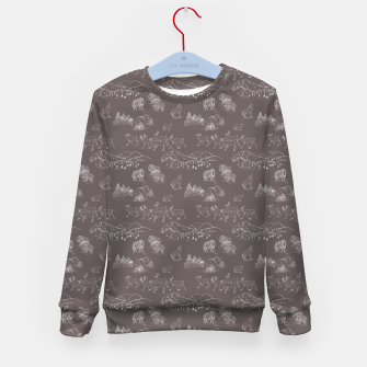 Thumbnail image of Arctic Wildlife Pattern (Taupe and White) Kid's sweater, Live Heroes