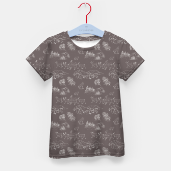 Thumbnail image of Arctic Wildlife Pattern (Taupe and White) Kid's t-shirt, Live Heroes