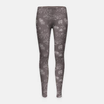 Thumbnail image of Arctic Wildlife Pattern (Taupe and White) Girl's leggings, Live Heroes