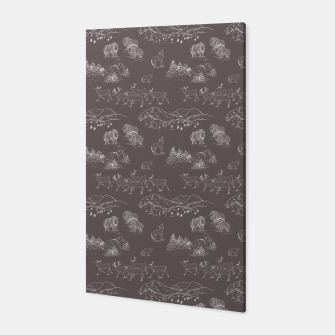 Thumbnail image of Arctic Wildlife Pattern (Taupe and White) Canvas, Live Heroes