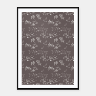 Thumbnail image of Arctic Wildlife Pattern (Taupe and White) Framed poster, Live Heroes