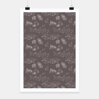 Thumbnail image of Arctic Wildlife Pattern (Taupe and White) Poster, Live Heroes