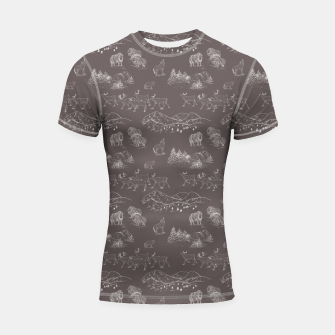 Thumbnail image of Arctic Wildlife Pattern (Taupe and White) Shortsleeve rashguard, Live Heroes