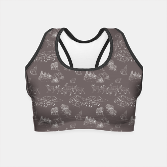 Thumbnail image of Arctic Wildlife Pattern (Taupe and White) Crop Top, Live Heroes