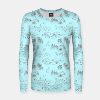 Thumbnail image of Arctic Wildlife Pattern (Light Blue and Brown) Women sweater, Live Heroes