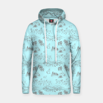 Thumbnail image of Arctic Wildlife Pattern (Light Blue and Brown) Hoodie, Live Heroes