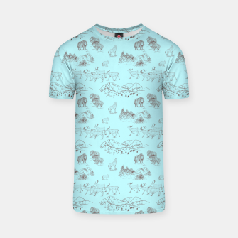 Thumbnail image of Arctic Wildlife Pattern (Light Blue and Brown) T-shirt, Live Heroes