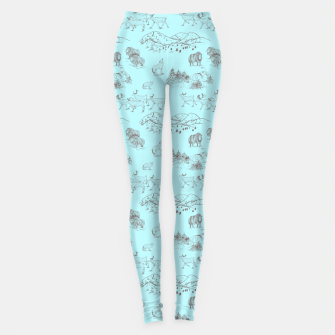 Thumbnail image of Arctic Wildlife Pattern (Light Blue and Brown) Leggings, Live Heroes