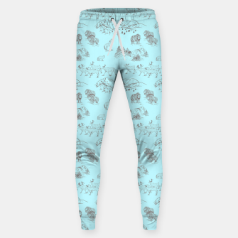 Thumbnail image of Arctic Wildlife Pattern (Light Blue and Brown) Sweatpants, Live Heroes