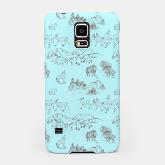 Thumbnail image of Arctic Wildlife Pattern (Light Blue and Brown) Samsung Case, Live Heroes