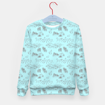 Thumbnail image of Arctic Wildlife Pattern (Light Blue and Brown) Kid's sweater, Live Heroes