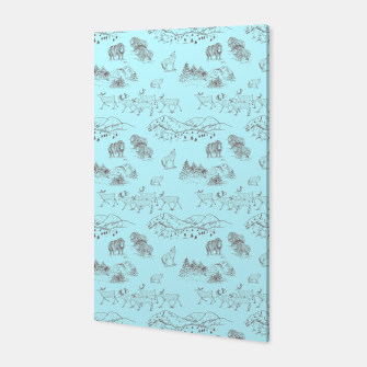 Thumbnail image of Arctic Wildlife Pattern (Light Blue and Brown) Canvas, Live Heroes