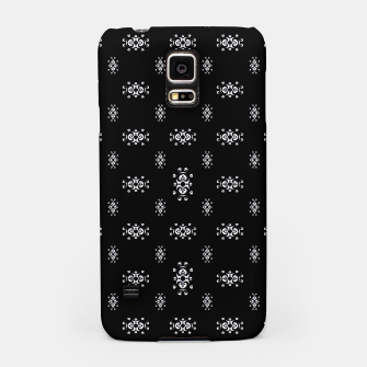 Thumbnail image of Black and White Ethnic Symbols Motif Pattern Samsung Case, Live Heroes