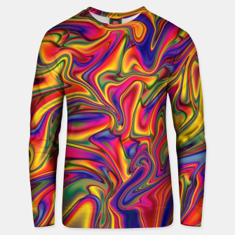 Thumbnail image of Fluid Rainbow Marbling Unisex sweater, Live Heroes