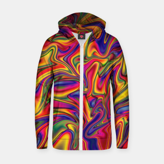 Thumbnail image of Fluid Rainbow Marbling Zip up hoodie, Live Heroes