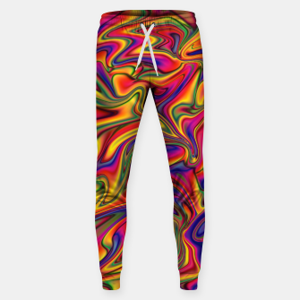 Thumbnail image of Fluid Rainbow Marbling Sweatpants, Live Heroes