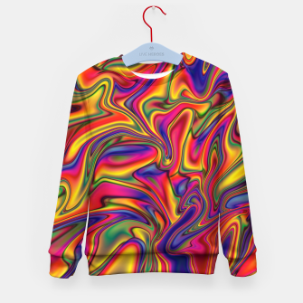 Thumbnail image of Fluid Rainbow Marbling Kid's sweater, Live Heroes