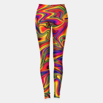 Thumbnail image of Fluid Rainbow Marbling Leggings, Live Heroes