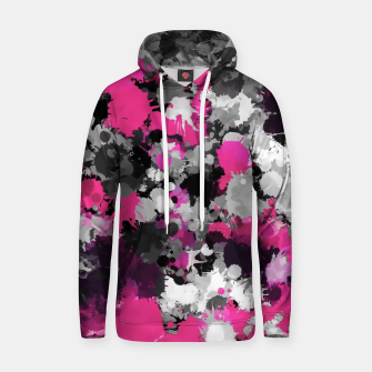 Miniatur Pink and Grey Paint Splatter Hoodie, Live Heroes