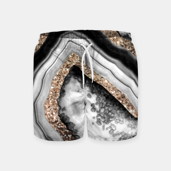 Thumbnail image of Agate Gold Glitter Glam #1 #gem #decor #art Badeshorts, Live Heroes