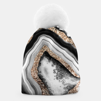 Thumbnail image of Agate Gold Glitter Glam #1 #gem #decor #art Mütze, Live Heroes