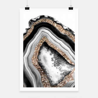 Agate Gold Glitter Glam #1 #gem #decor #art Plakat miniature