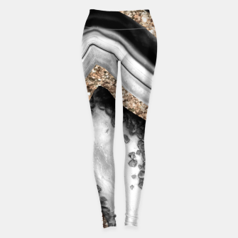 Agate Gold Glitter Glam #1 #gem #decor #art Leggings miniature