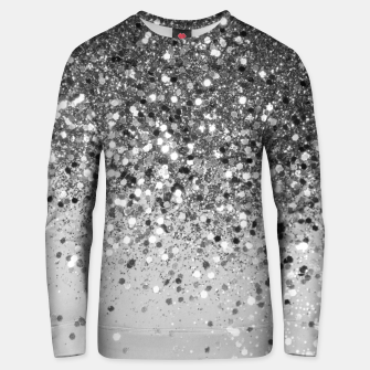 Soft Silver Gray Glitter #1 (Faux Glitter - Photography) #shiny #decor #art  Unisex sweatshirt obraz miniatury