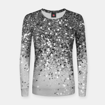 Thumbnail image of Soft Silver Gray Glitter #1 (Faux Glitter - Photography) #shiny #decor #art  Frauen sweatshirt, Live Heroes