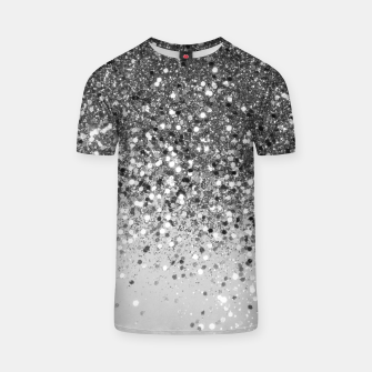 Miniaturka Soft Silver Gray Glitter #1 (Faux Glitter - Photography) #shiny #decor #art  T-Shirt, Live Heroes