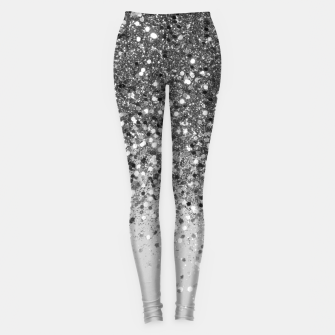 Thumbnail image of Soft Silver Gray Glitter #1 (Faux Glitter - Photography) #shiny #decor #art  Leggings, Live Heroes
