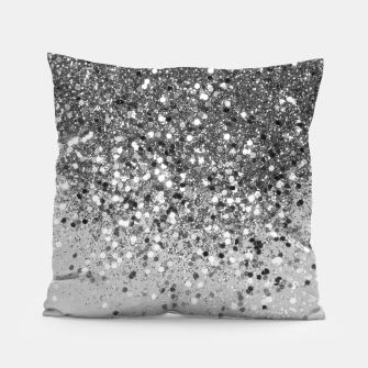 Thumbnail image of Soft Silver Gray Glitter #1 (Faux Glitter - Photography) #shiny #decor #art  Kissen, Live Heroes