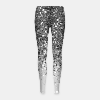 Soft Silver Gray Glitter #1 (Faux Glitter - Photography) #shiny #decor #art  Kinder-Leggins obraz miniatury
