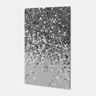 Soft Silver Gray Glitter #1 (Faux Glitter - Photography) #shiny #decor #art  Canvas obraz miniatury